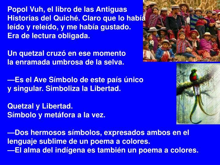 Popol Vuh, el libro de las Antiguas