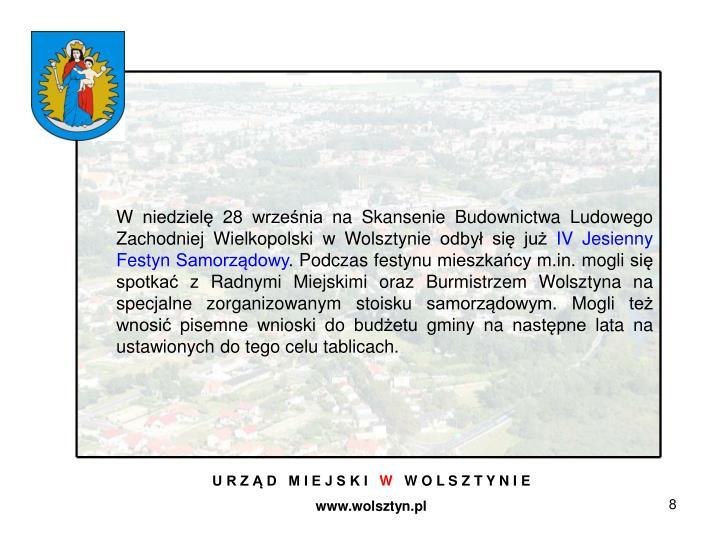 W niedzielę 28 września na Skansenie Budownictwa Ludowego Zachodniej Wielkopolski w Wolsztynie odbył się już