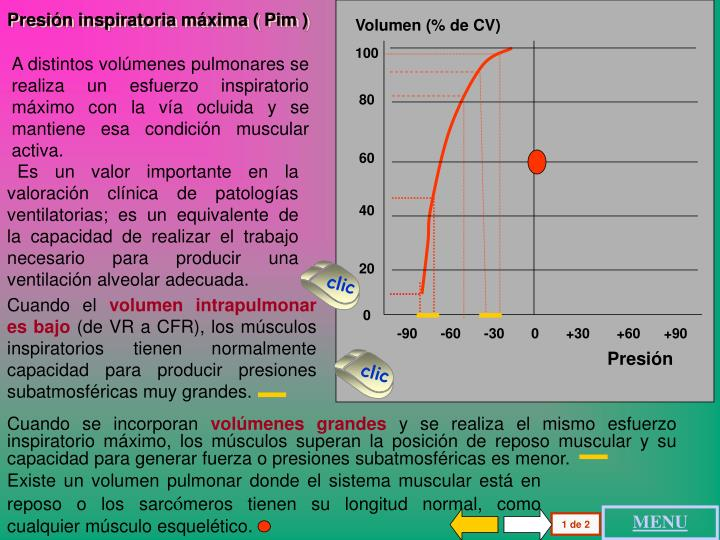 Volumen (% de CV)