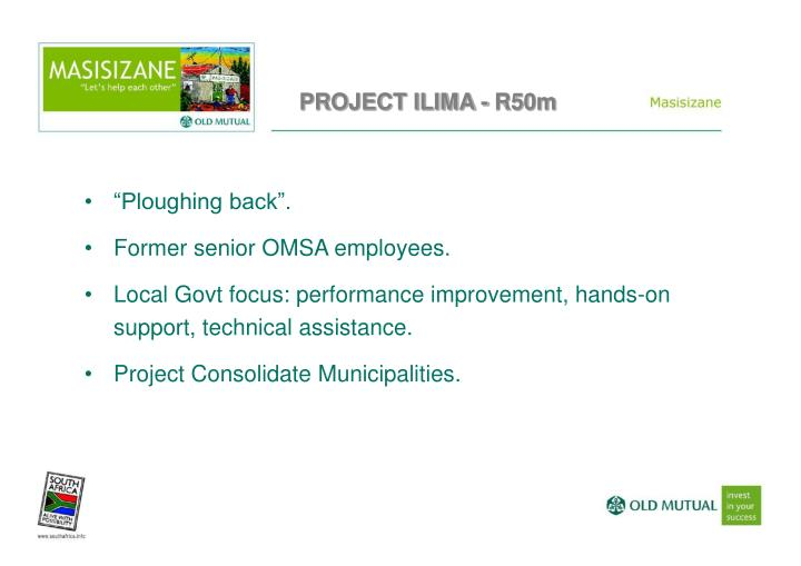 PROJECT ILIMA - R50m