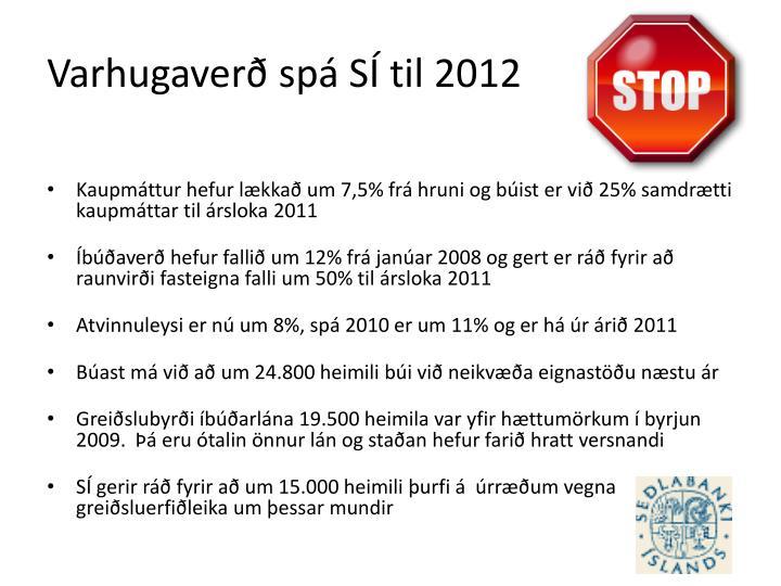 Varhugaverð spá SÍ til 2012