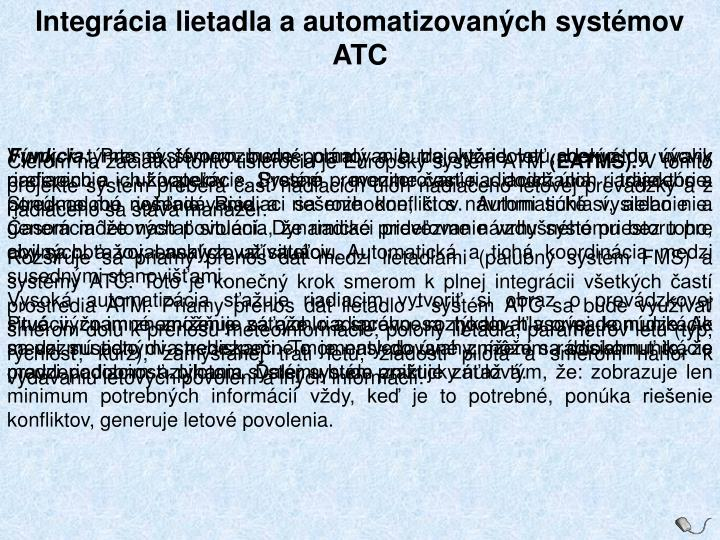 Integrácia lietadla a automatizovaných systémov ATC