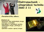 elektromechanik silnopr dov technika 2683 2 11