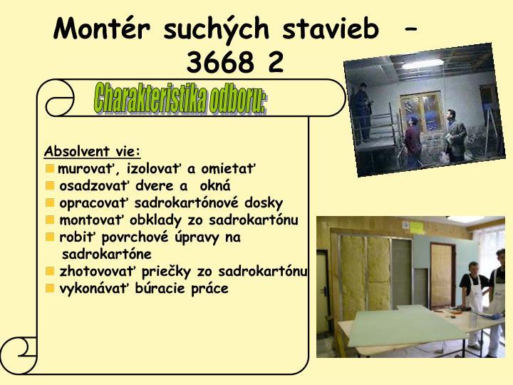 Montér suchých stavieb  – 3668 2