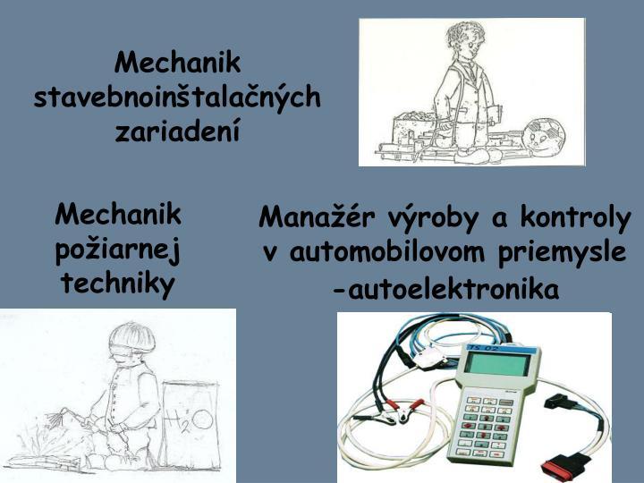 Mechanik stavebnoinštalačných zariadení