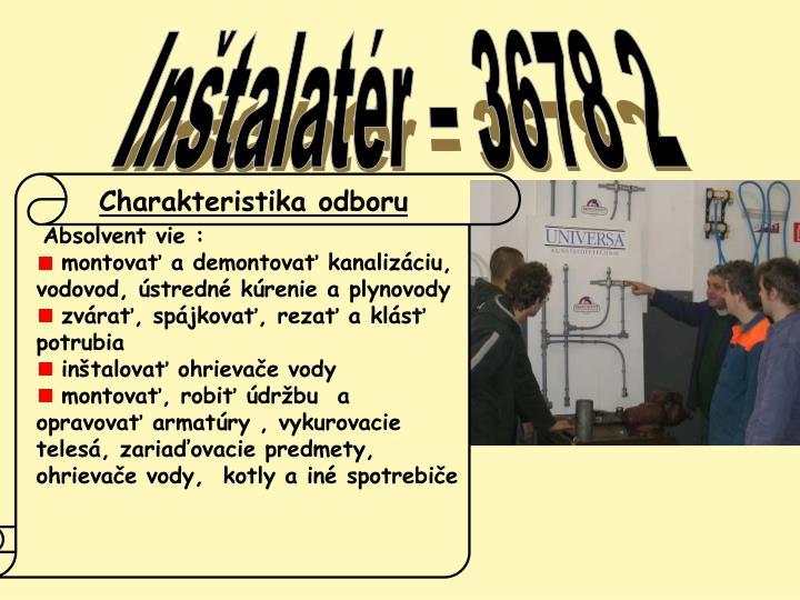 Inštalatér – 3678 2