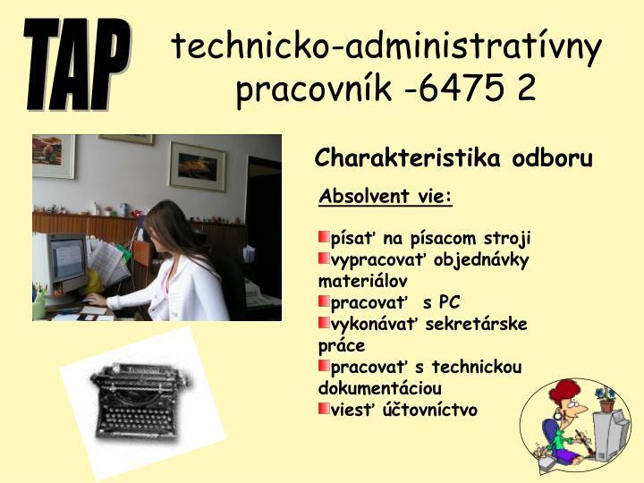 technicko-administratívny pracovník -6475 2