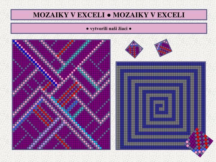 MOZAIKY V EXCELI