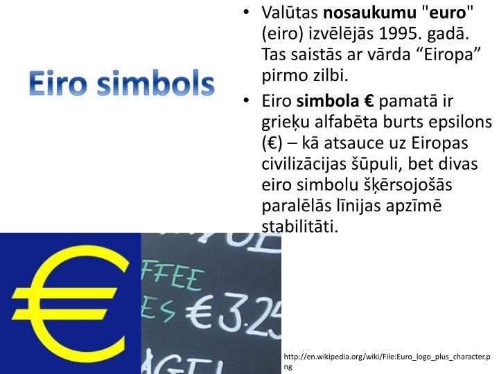 Eiro simbols
