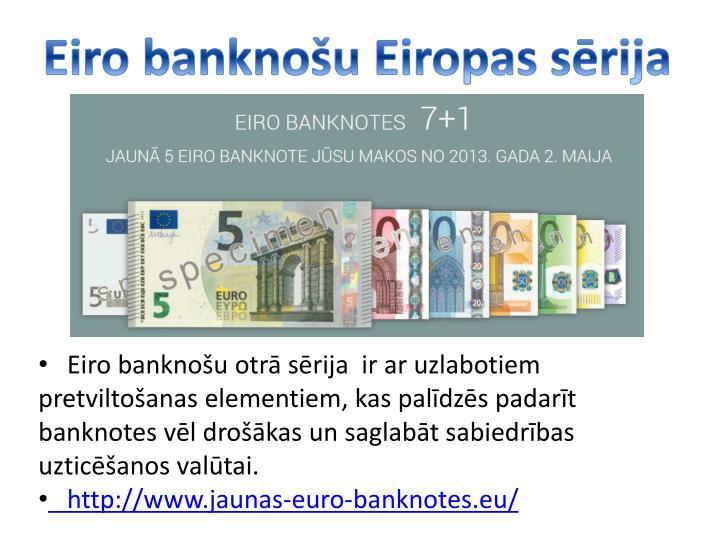 Eiro banknou Eiropas srija