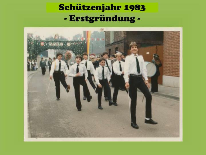 Schützenjahr 1983