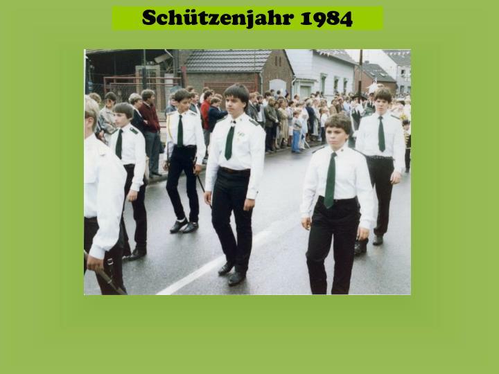 Schützenjahr 1984