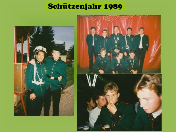 Schützenjahr 1989