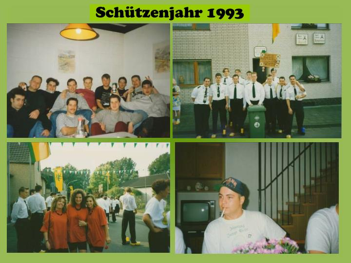 Schützenjahr 1993