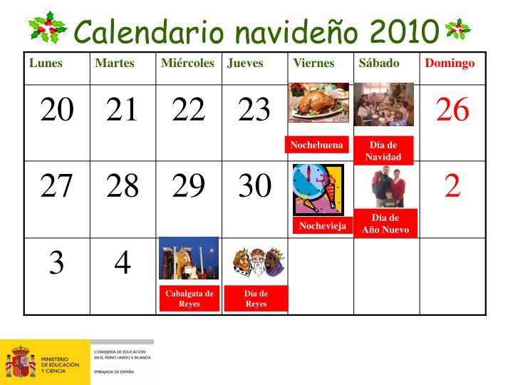 Calendario navideño 2010