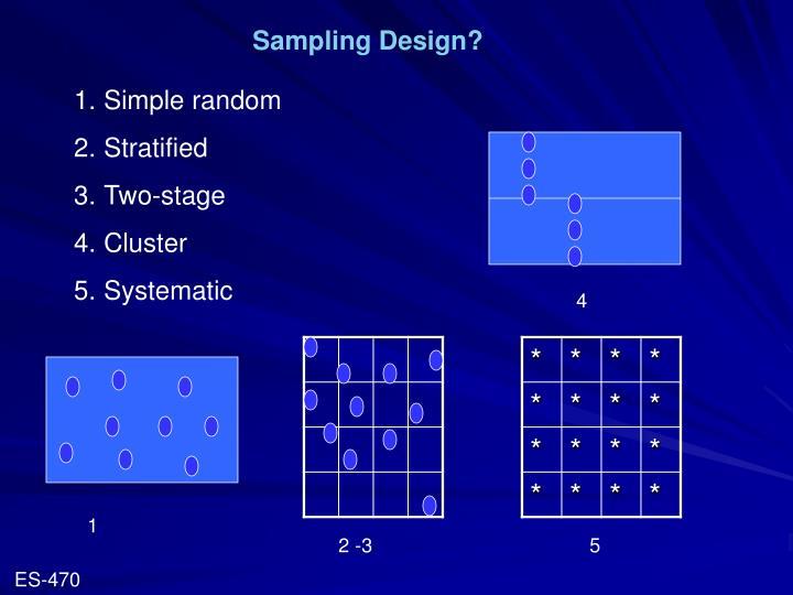 Sampling Design?