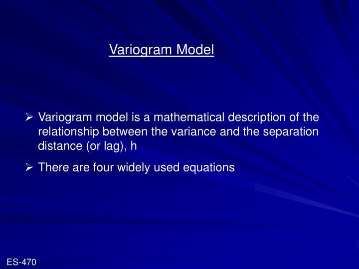 Variogram Model