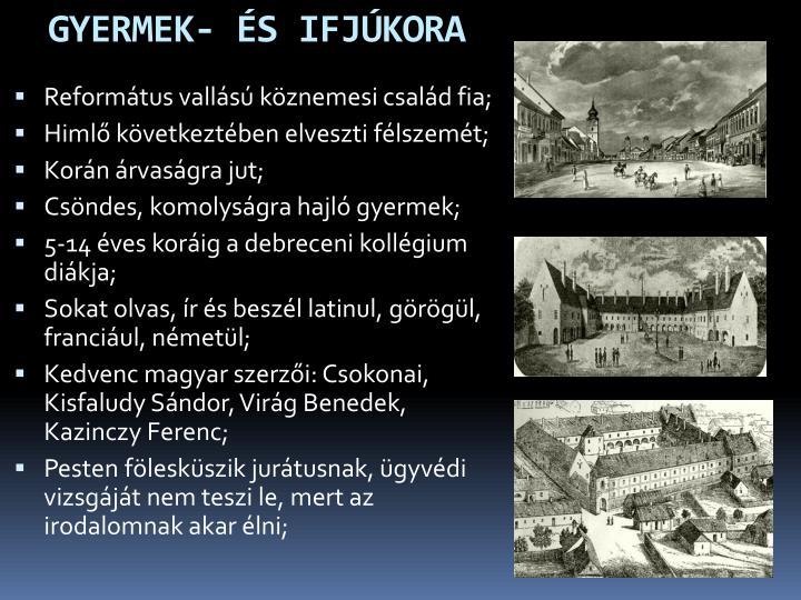 GYERMEK- ÉS IFJÚKORA