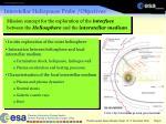 interstellar heliopause probe objectives