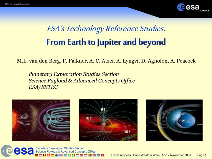 ESA's Technology Reference Studies: