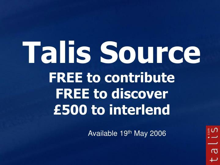 Talis Source