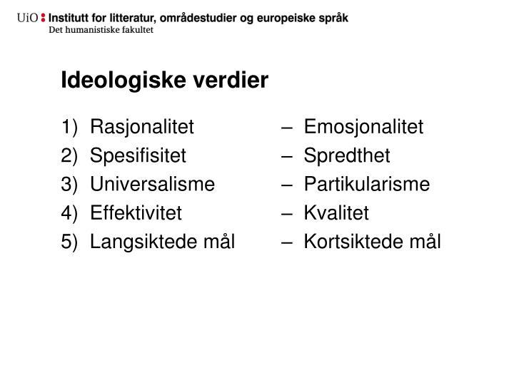 Ideologiske