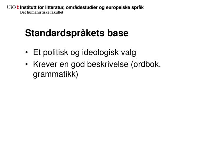 Standardspråkets