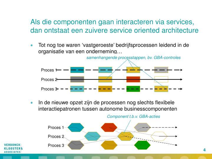 samenhangende processtappen, bv. GBA-controles