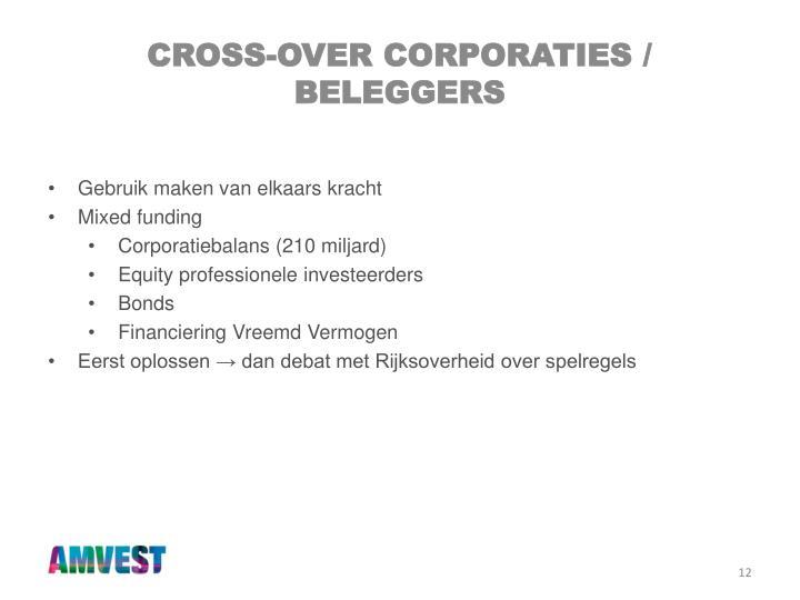 Cross-over corporaties / beleggers