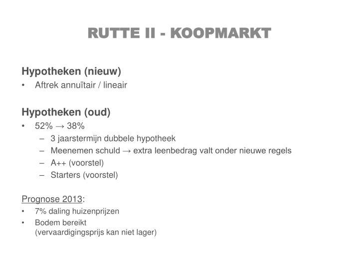 Rutte II - koopmarkt