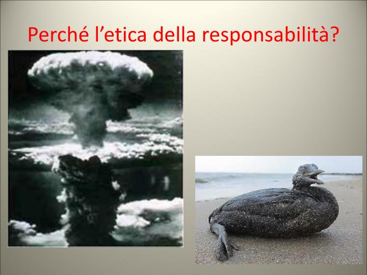 Perché l'etica della responsabilità?
