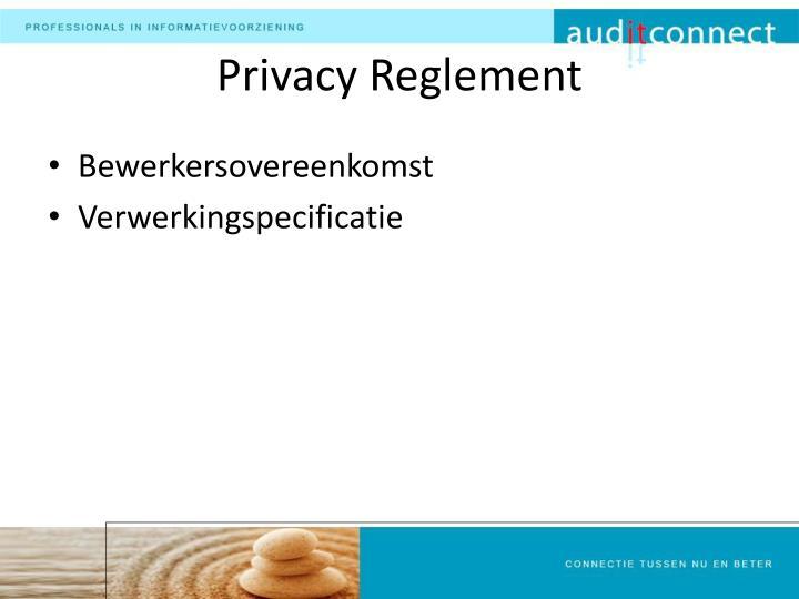 Privacy Reglement