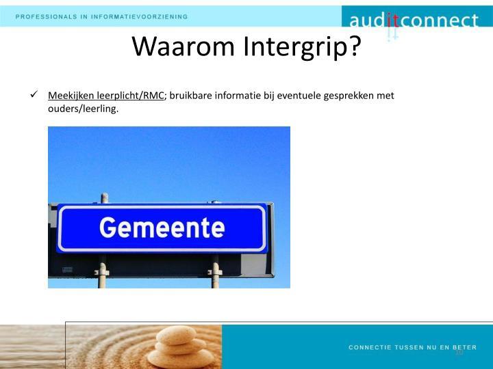 Waarom Intergrip?