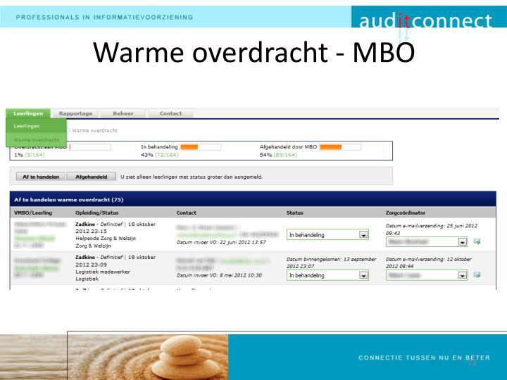 Warme overdracht - MBO