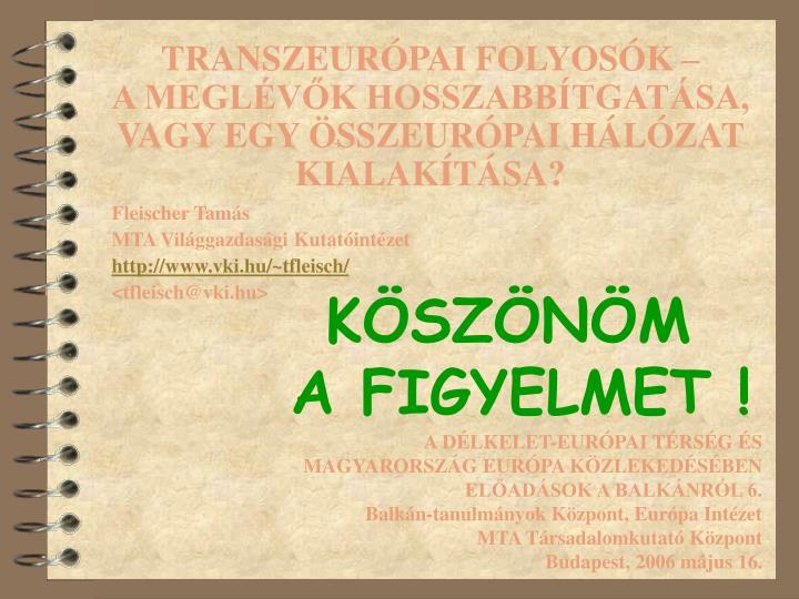 TRANSZEURÓPAI FOLYOSÓK –