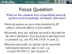 focus question1