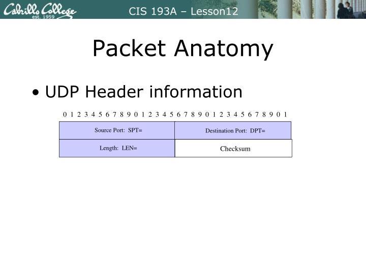 Packet Anatomy