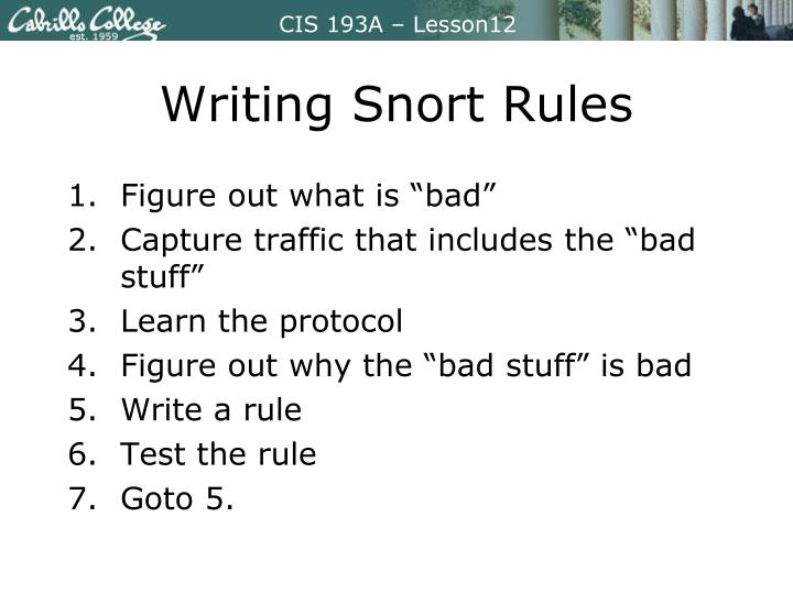 Writing Snort Rules