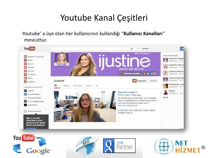 Youtube kanal e itleri
