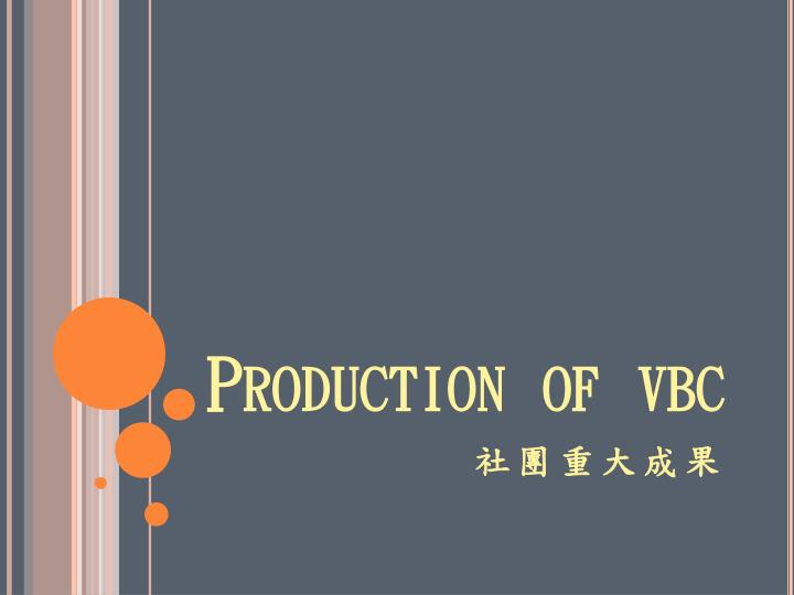 Production of