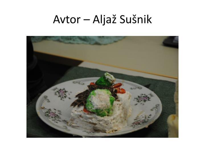 Avtor – Aljaž Sušnik
