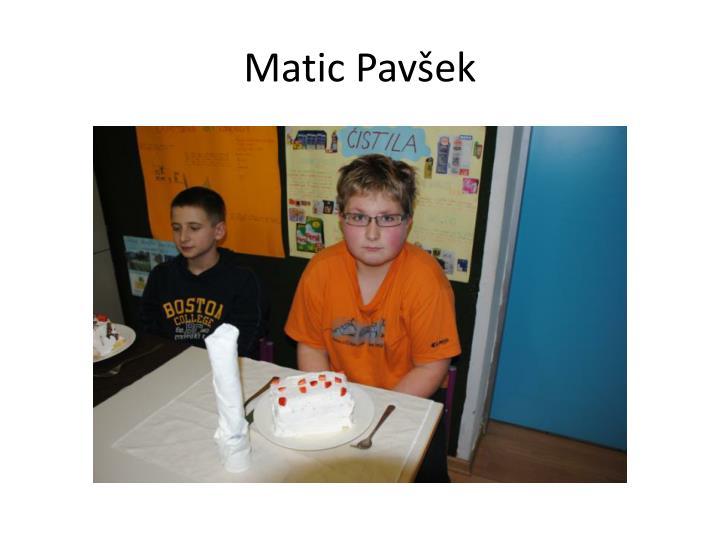 Matic Pavšek