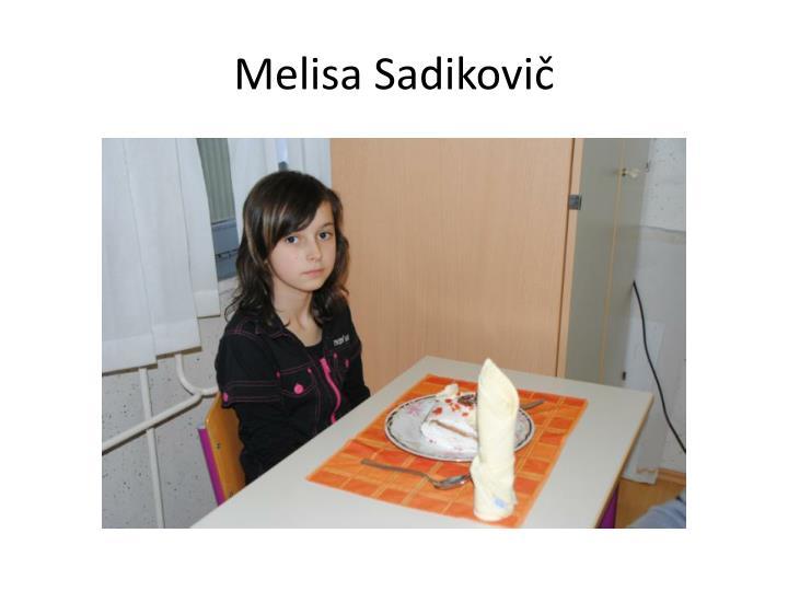 Melisa Sadikovič
