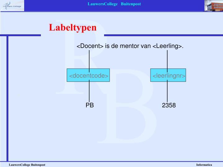 Labeltypen
