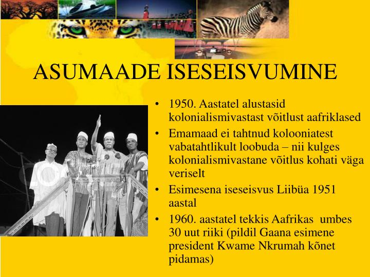 ASUMAADE ISESEISVUMINE
