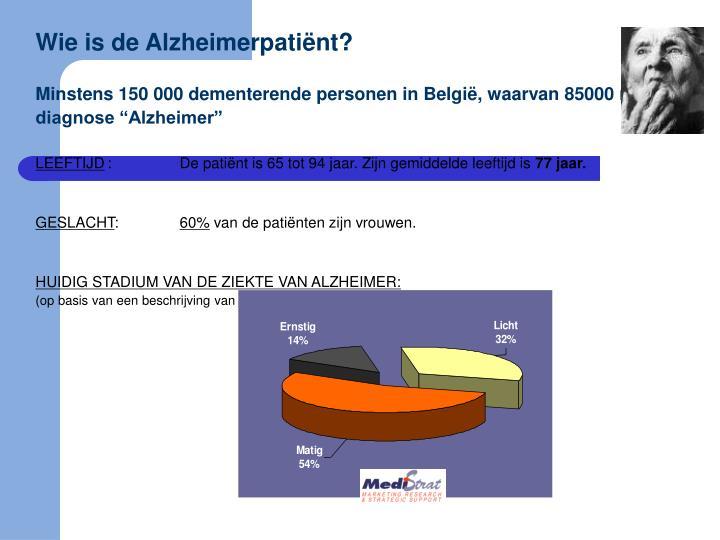Wie is de Alzheimerpatiënt?