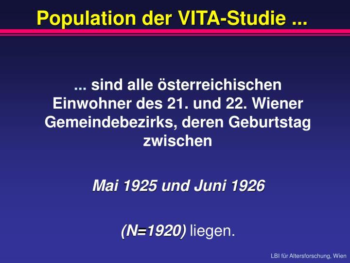 Population der VITA-Studie ...