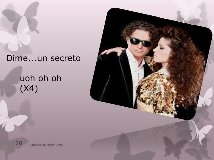 Dime...un secreto