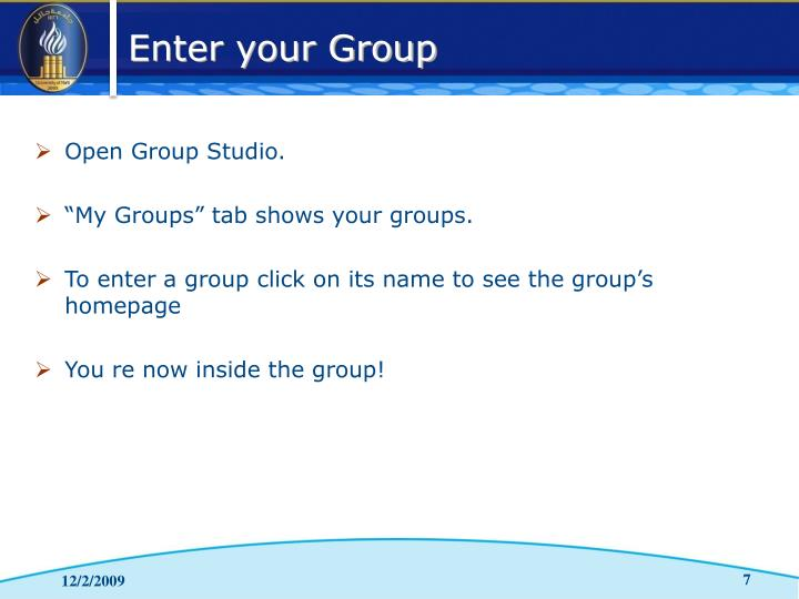 Open Group Studio.
