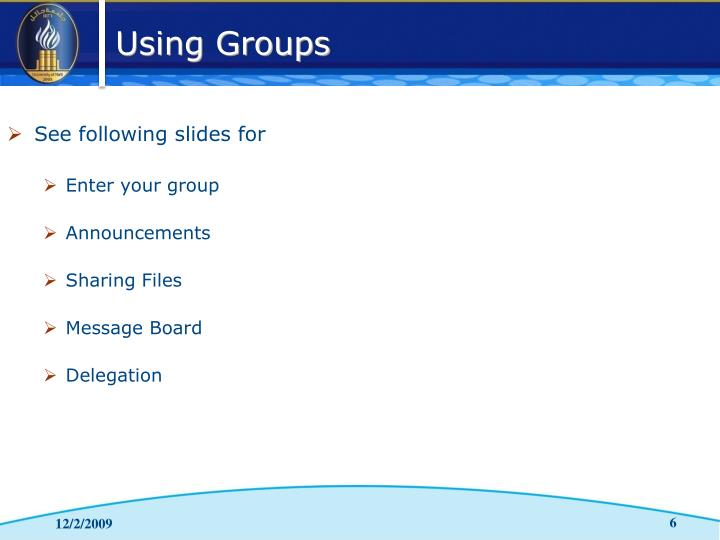 See following slides for